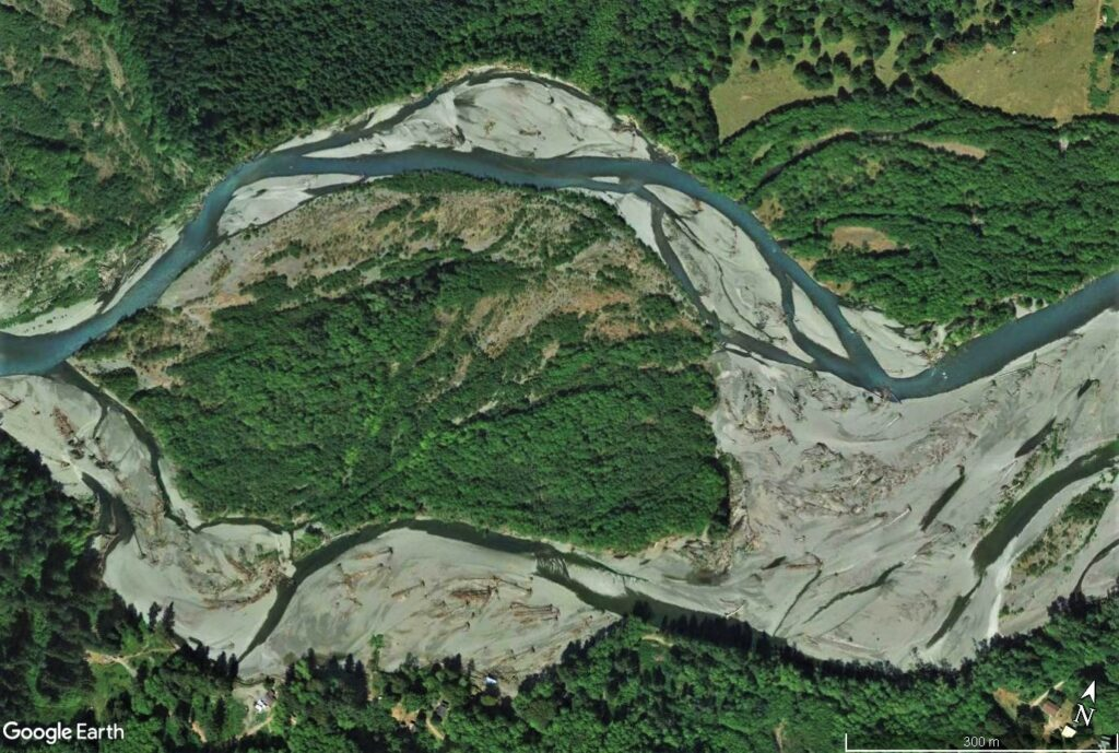 Satellite picture of the Hoh River