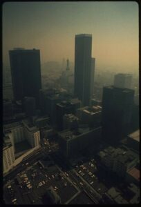 Los Angeles in 1973, covered by a thick blanket of smog