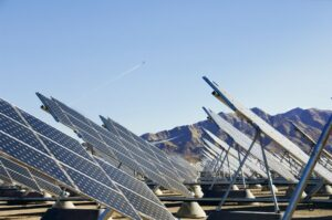 A solar panel array at Nellis Air Force Base