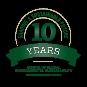 school of global environmental sustainability 10 year logo