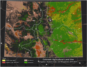 Map of Colorado Agricultural Land Use