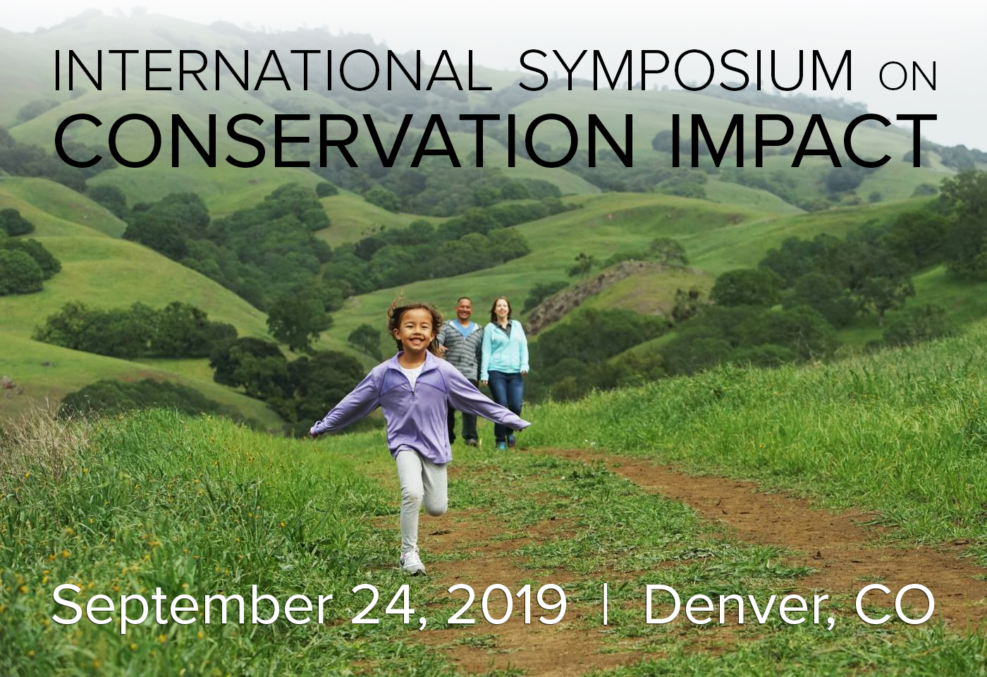 Event poster for Salzar Center International Symposium on Conservation Impact