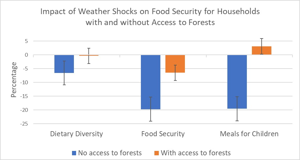 Chart showing measures of food security
