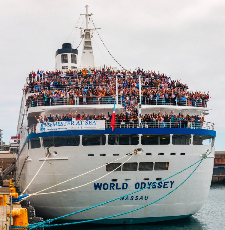 Ship full of students for Semester at Sea program
