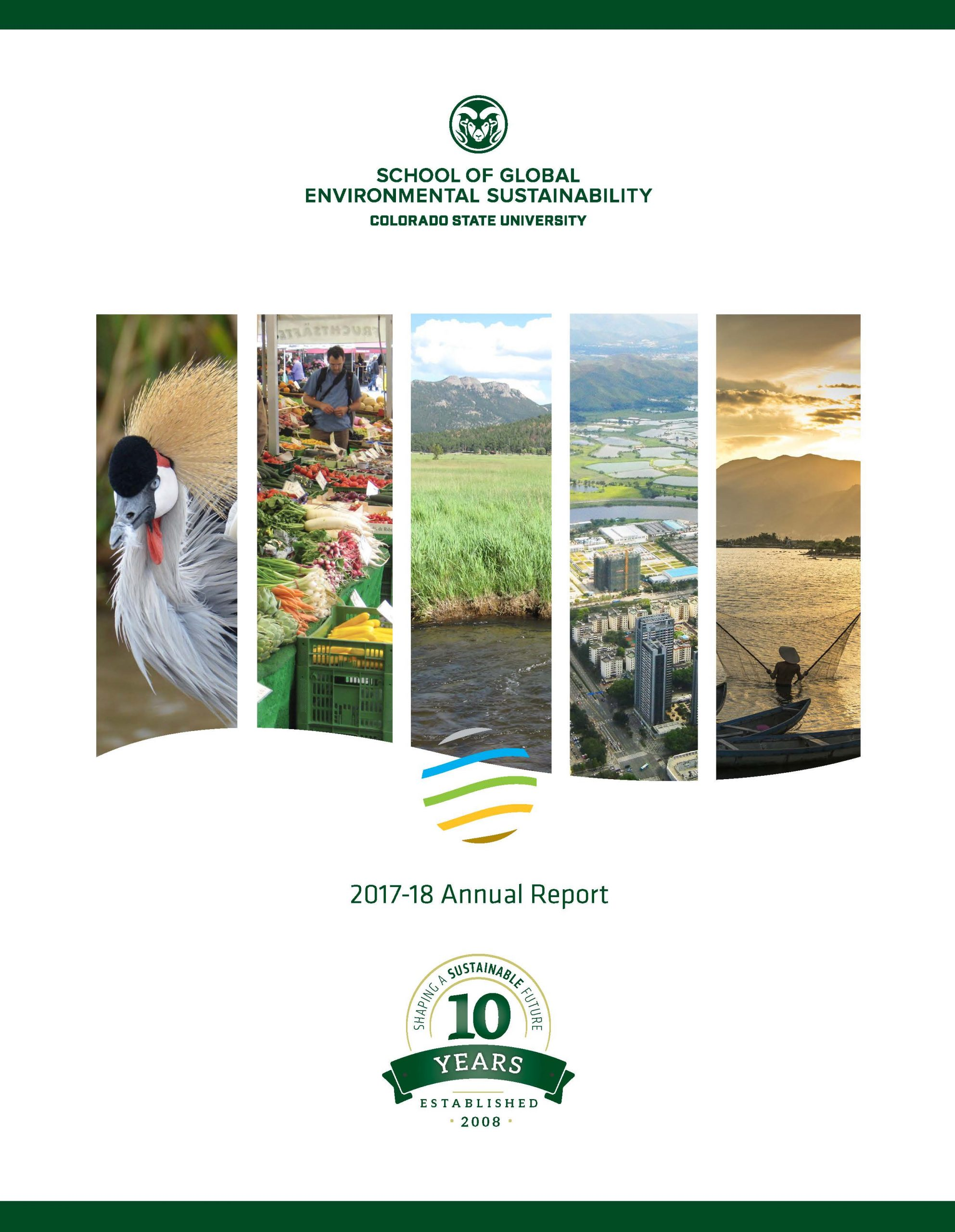 Cover art for the 2017-2018 SoGES Annual Report