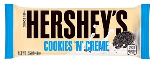 Hershey's Cookie'N' Cream bar