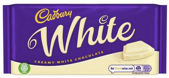 Cadbury White chocolate bar
