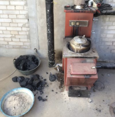 Residential coal heating stoves in Gu'an China