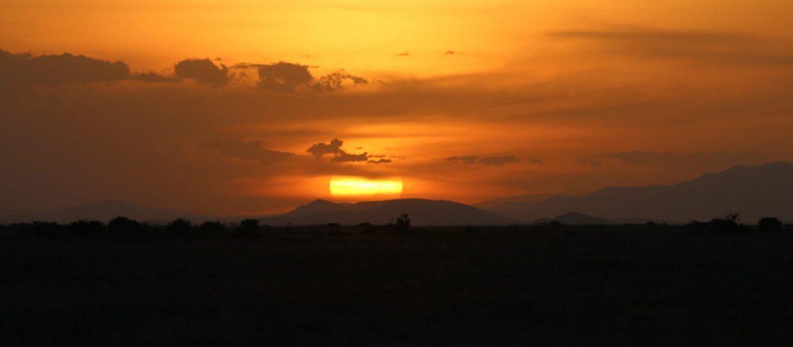 Sunset in southern Kenya