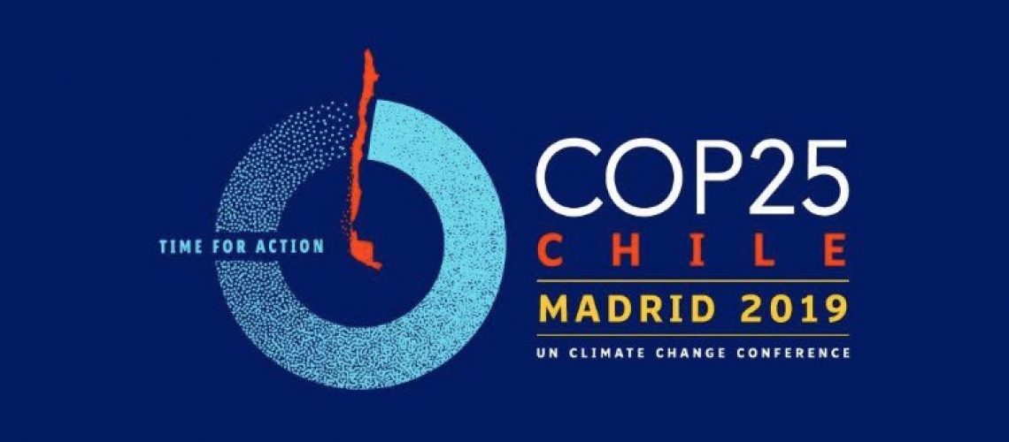 The new logo for the United Nations  25th annual Conference of Parties (COP25), the international forum for negotiations on climate change action. [Photo Credit: United Nations, https://twitter.com/unfccc]