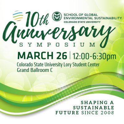 School of Global Environmental Sustainability Symposium advertisement image